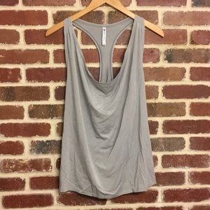 Fabletics Gray Workout Tank Top